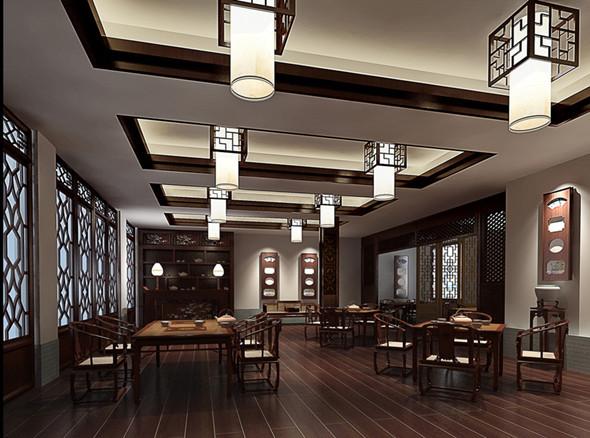 中式红木雕刻仿古装修来再现古典历史文化意境和内涵