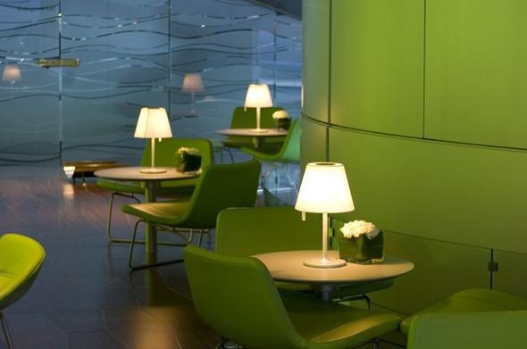 以绿色为主题的餐厅装修设计