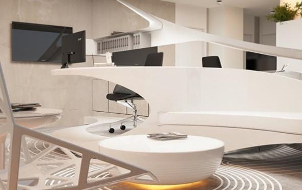 像艺术品的办公家具,使办公室装修更个性