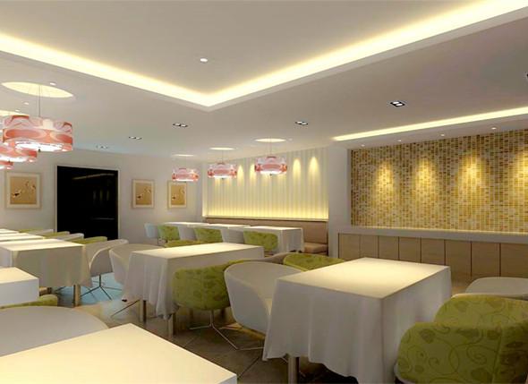 现代简约风格自助餐厅装修效果图