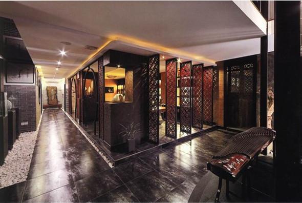 现代新中式茶馆图片 大厅装修效果图 设计案例
