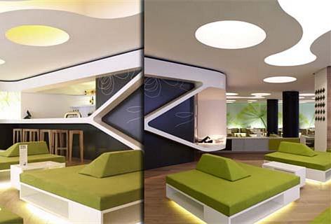 绿色环保为主题,餐厅装修设计