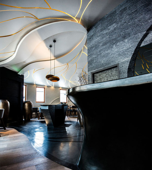 透光石与石膏板结合的造型吊顶设计欣赏