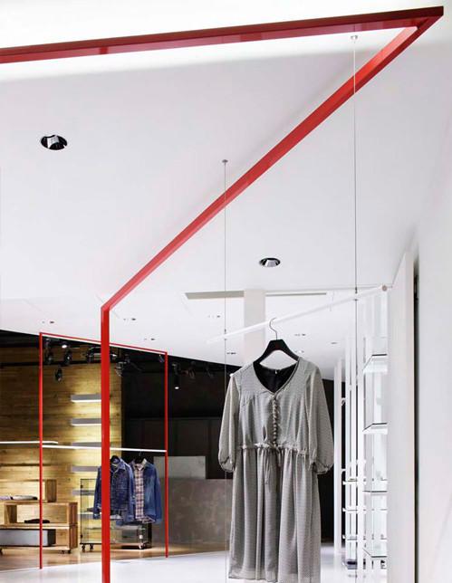 服装店面设计简单线条,勾勒出独特视觉效果